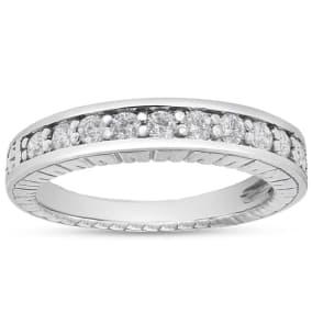Previously Owned 1/4 Carat Diamond Wedding Band In 14 Karat White Gold