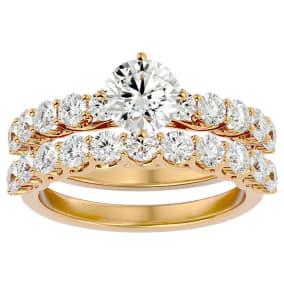 2 1/2 Carat Diamond Bridal Set In 14 Karat Yellow Gold