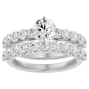 2 1/2 Carat Diamond Bridal Set In 14 Karat White Gold