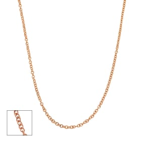 14 Karat Rose Gold 1.5mm Cable Chain, 18 Inches