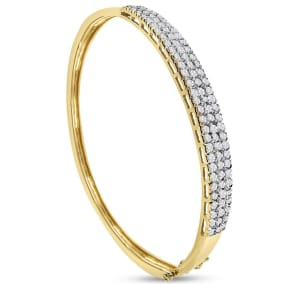 Previously Owned 1 1/2 Carat Diamond Bangle Bracelet In 14 Karat Yellow Gold