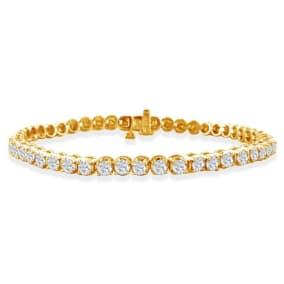3 Carat Diamond Tennis Bracelet In 14 Karat Yellow Gold