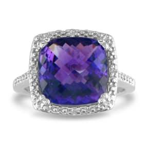 Amethyst Ring | February Birthstone | SuperJeweler com