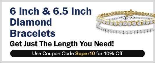 6 Inch and 6.5 Inch Diamond Bracelets