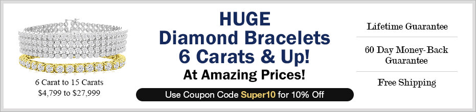 HUGE Diamond Bracelets 6 Carats & Up!