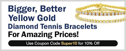 Yellow Gold Diamond Tennis Bracelets