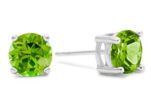 2ct Peridot Earrings in Sterling Silver