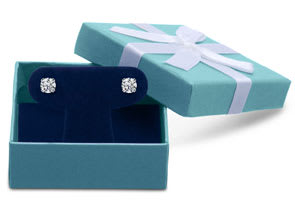 1ct Diamond Stud Earrings in White Gold