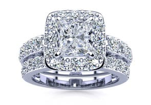 225ct princess diamond bridal set in 14k white gold - Wedding Rings Cheap