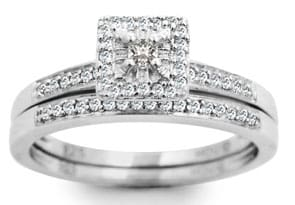 1/4ct Princess Diamond Bridal Set -Very HOT Great Price!