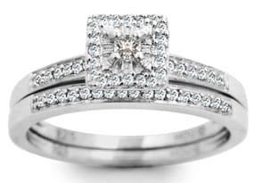 1/4ct Princess Diamond Bridal Set -Very HOT Great Price!
