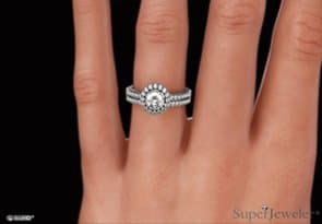 1ct Diamond Bridal Set in 14k White Gold