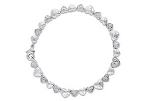 Diamond Heart Bracelet