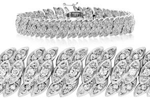 2ct Diamond Petal Bracelet + FREE Diamond Hoops!