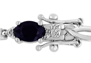7ct Sapphire and Diamond Bracelet