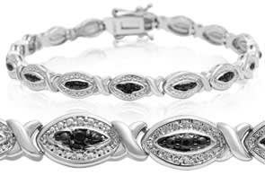 Black Diamond Hugs and Kisses Bracelet
