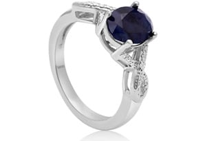 2 1/4ct Sapphire and Diamond Infinity Ring