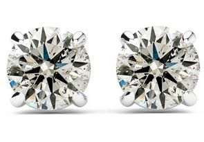 1/2ct Diamond Studs in 14k White Gold - As Seen on Dr. Phil!