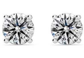 Colorless 1 Carat Genuine Natural F-G Super White Diamond Stud Earrings in 14 Karat White Gold. Unbelievable Value!