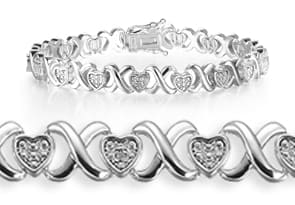 Diamond XO Heart Bracelet