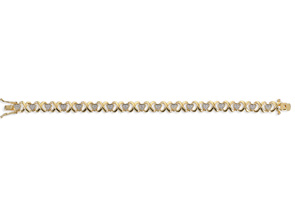 Diamond XO Heart Bracelet
