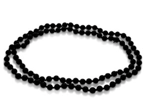 Black Onyx Bead Hand-Knotted Necklace + FREE Matching Earrings!