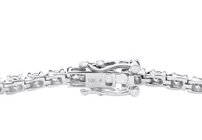 10K White Gold Classic 2 Carat Diamond Tennis Bracelet