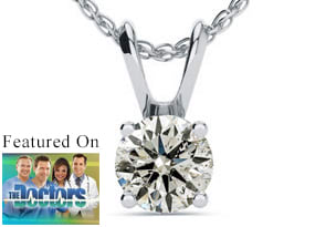 1/2ct Diamond Solitaire Pendant in 14k White Gold