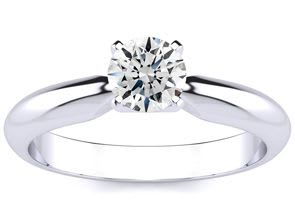 1/2ct Diamond Solitaire Engagement Ring in White Gold