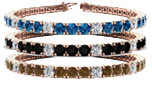 Blue, Brown & Black Diamond Bracelets