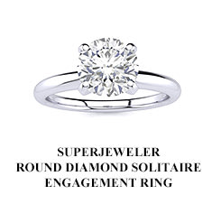 SuperJeweler Round Diamond Solitaire Engagement Ring