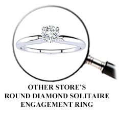 Other Store's Round Diamond Solitaire Engagement Ring