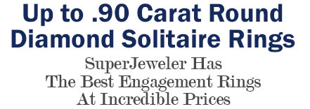Up to .90 Carat Round Diamond Solitaire Rings
