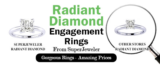 Radiant Diamond Engagement Rings From SuperJeweler - Gorgeous rings - Amazing Prices