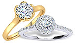 ½ Carat & ¾ Carat Diamond Engagement Rings