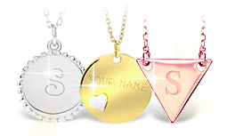 Personalized Necklaces in Solid Gold
