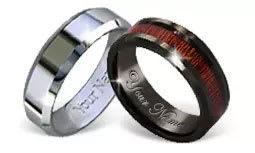 Alternative Metal Wedding Rings
