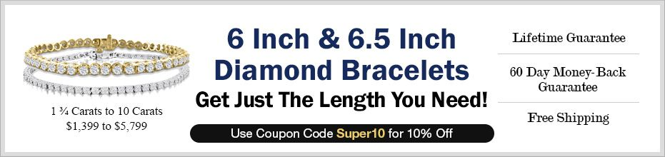 6 Inch and 6.5 Inch Diamond Bracelets