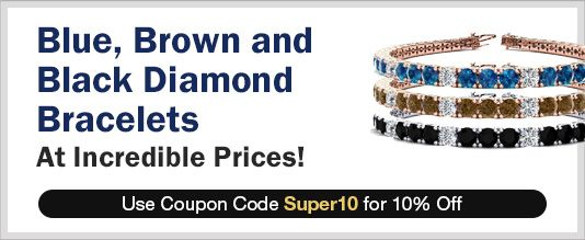 Blue, Brown & Black Diamond Bracelets
