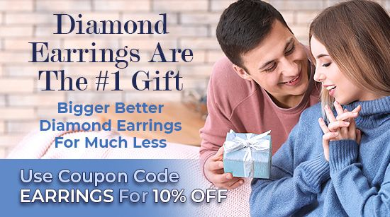 Diamond Earrings Are The #1 Gift. Bigger Better Diamond Earrings For Much Less