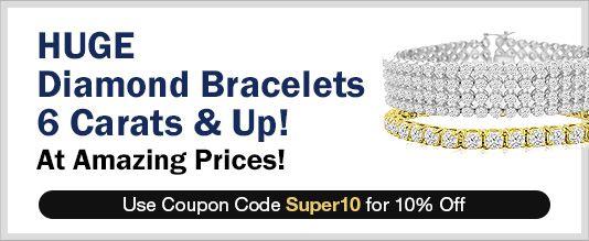HUGE Diamond Bracelets 6 Carats & Up!