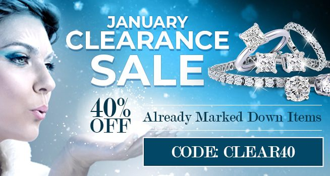 January Clearance Sale. 40% Off Already Marked Down Items. CODE: CLEAR40