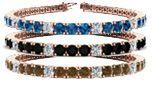 Blue, Brown & Black Diamond Bracelet