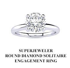 SuperJeweler Round Diamond Solitaire Engagement Ring
