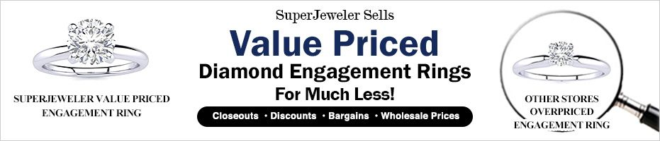 Value Priced Engagement Rings for much less
