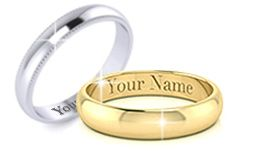 Wedding Rings with Free Engraving