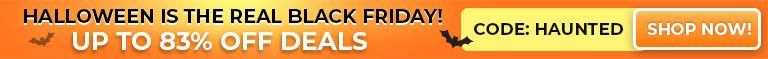 Halloween Is The Real Black Friday! Up To 83% Off Deals Perfect For Christmas -  Week Only Code:Haunted - Shop Now!
