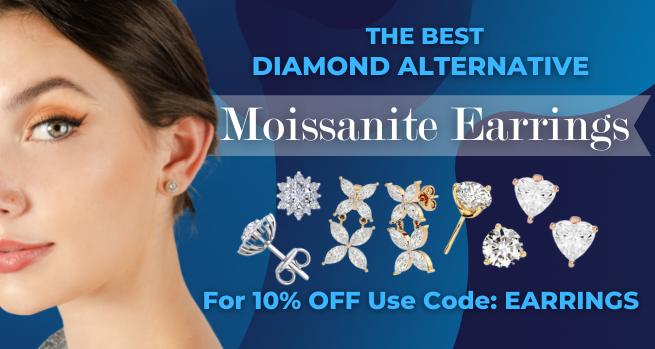 The best diamond alternative - Moissanite Earrings - For 10% Off use code: Earrings