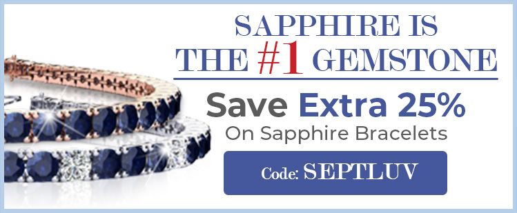 Sapphire Is The #1 Gemstone | Save Extra 25% On Sapphire Bracelets | Code: SEPTLUV
