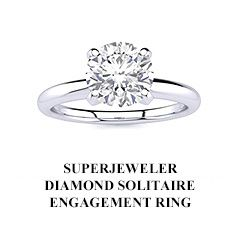 SuperJeweler Diamond Solitaire Engagement Ring